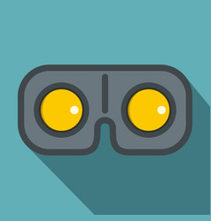 Game glasses icon flat style vector