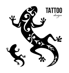 Gecko tattoo vector