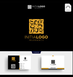 Gold luxury initial g logo template and business vector