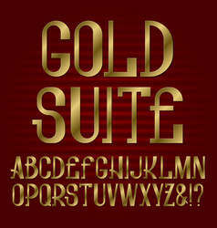 golden capital letters isolated english alphabet vector image