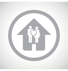 Grey family house sign icon vector image
