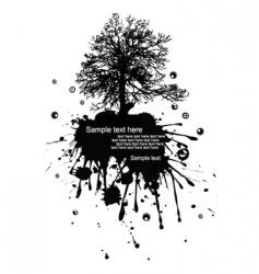 grunge landscape vector image