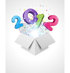 happy new year 2012 background vector image