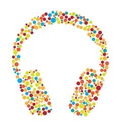 Headphones consist of dots vector image