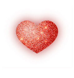 heart red glitter isoleted on white background vector image