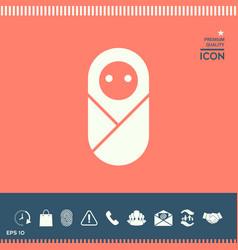 infant neonate newborn icon vector image