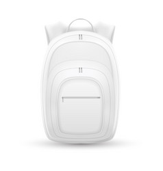 Isolated backpack bag design vector