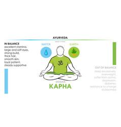 kapha dosha or endomorph - ayurvedic body type vector image