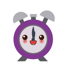 kawaii clock alarm hour school design icon vector image