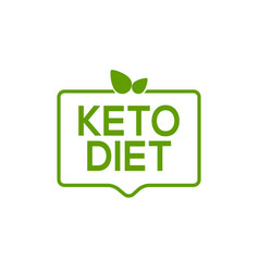 keto icon badge logo ketogenic diet stamp vector image