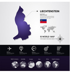 Liechtenstein map vector