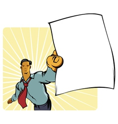 man with paper vector image