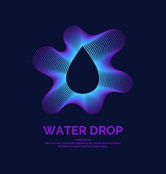 modern line logo water drop vector image