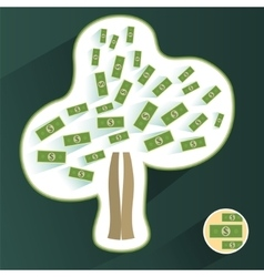 money tree isolated on White background vector image