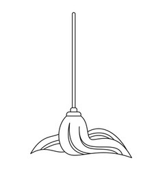 mop icon outline style vector image