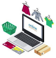 online shopping concept buying vector image