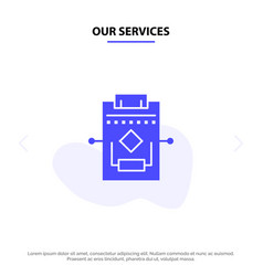 Our services workflow network process settings vector