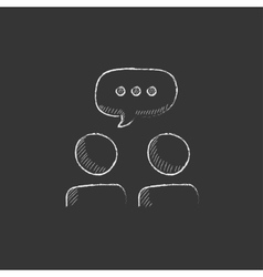 People with speech square above their heads drawn vector
