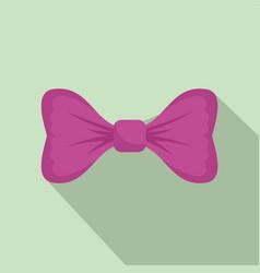 purple bow tie icon flat style vector image