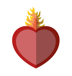 sacred heart icon vector image