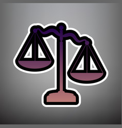 scales of justice sign violet gradient vector image