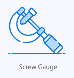 Screw gauge vector