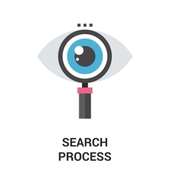 search process icon vector image