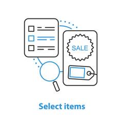 Select items concept icon vector