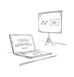 sketch education business concept vector image