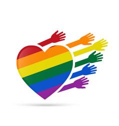 Solidarity gay people vector image