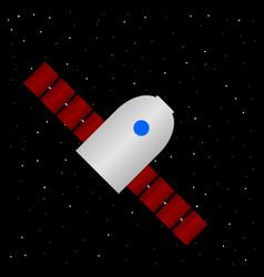 Spaceship icon on stars night sky vector