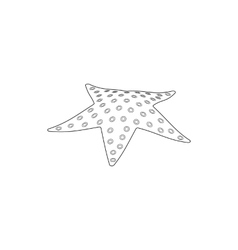 Starfish icon isometric 3d style vector image