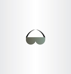 sunglasses icon abstract design vector image