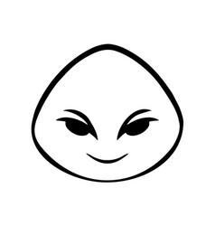 Thin line smile face icon vector