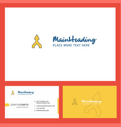 up arrow logo design with tagline front and back vector image