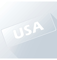 USA unique button vector image