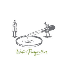 water purification element chemistry vector image