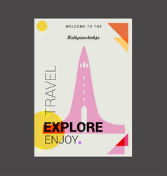 Welcome to the hallgrimskirkja reykjavk iceland vector