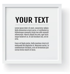 white modern frame mockup place for text photo vector image