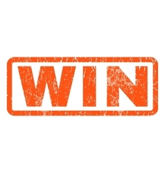 Win Rubber Stamp vector