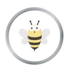 Bee cartoon icon for web and mobile vector image vector image