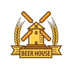 beer icon for beerhouse brewery bar pub or product vector image vector image