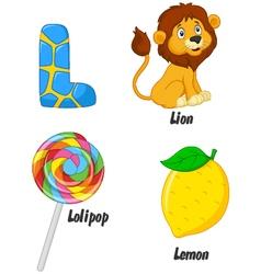 L alphabet vector image vector image