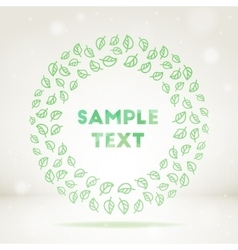 Ornamental leaf frame vector image vector image