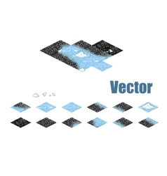 Pixel art sprite tiles for game background vector image