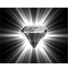 Shiny bright diamond vector image