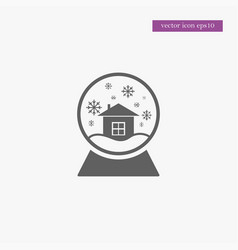 snow globe icon simple vector image