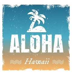 aloha with hot beach colors retro vector image vector image