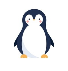 Cute penguin icon vector image