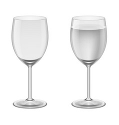empty wineglass and a wineglasses with water vector image vector image